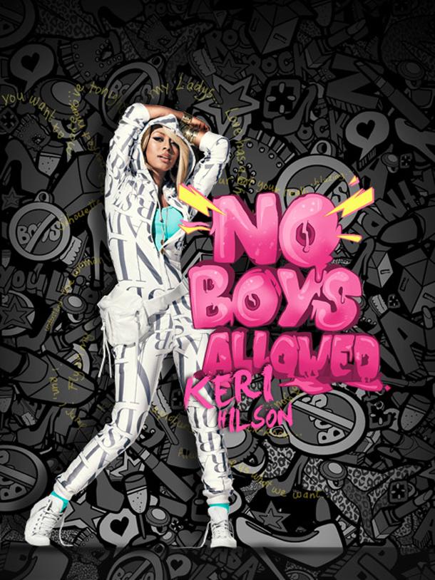 """""""No Boys Allowed"""" vector illustration"""