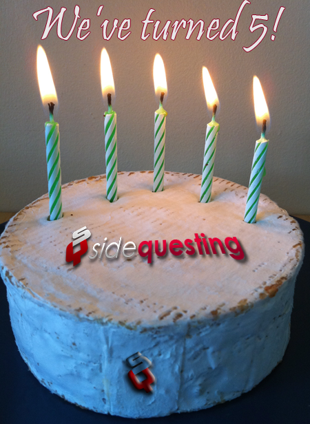SideQuesting is Five!