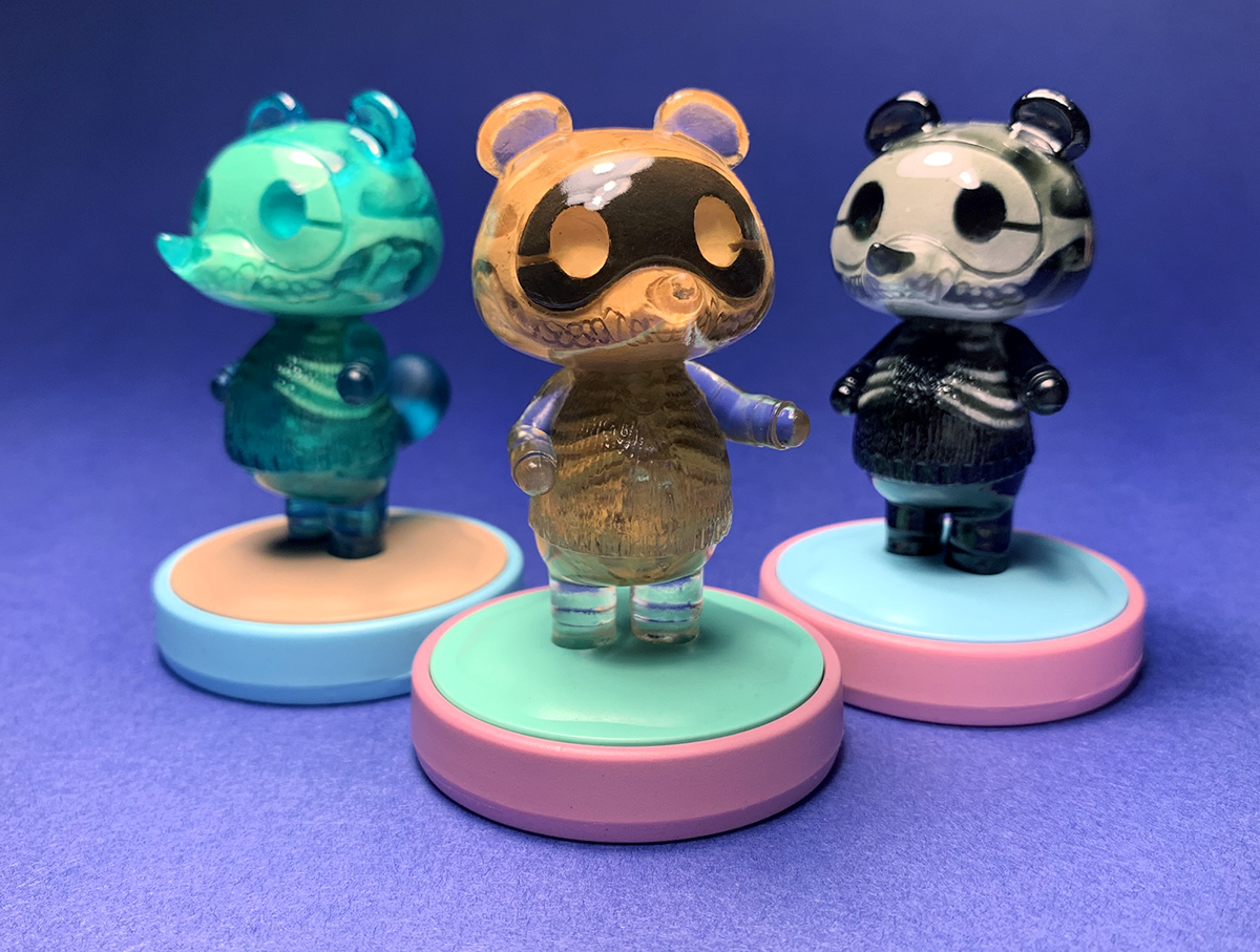 Artist Scott Wilkowski's Tom Nook figures are beautifully horrifying