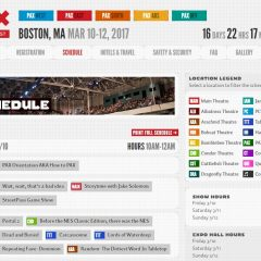 The PAX East 2017 schedule is now live