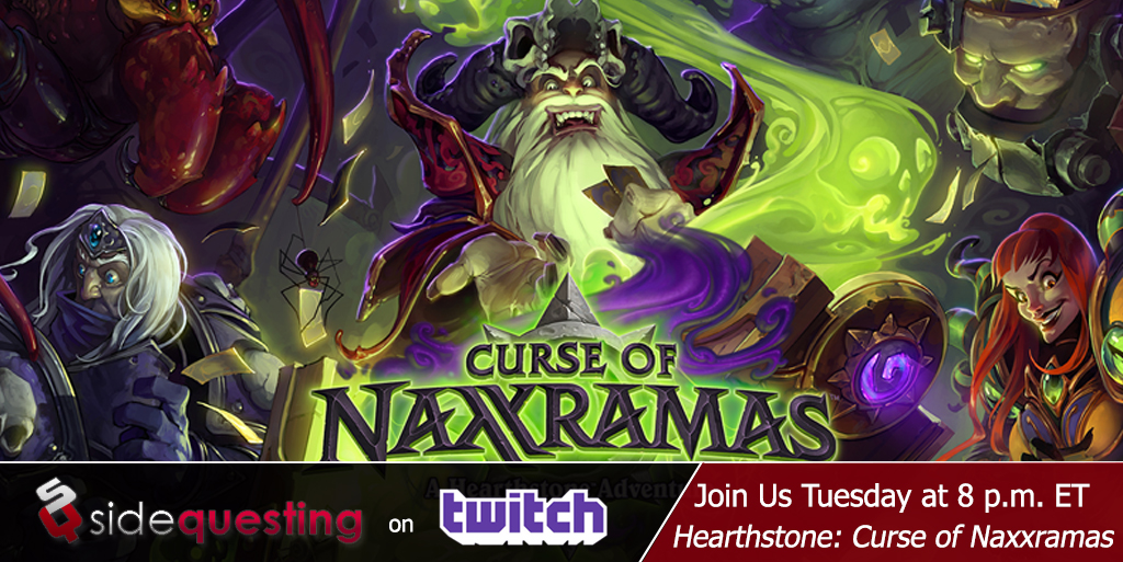 SideQuestingTV-Hearthstone-The-Curse-of-Naxxramas-Stream