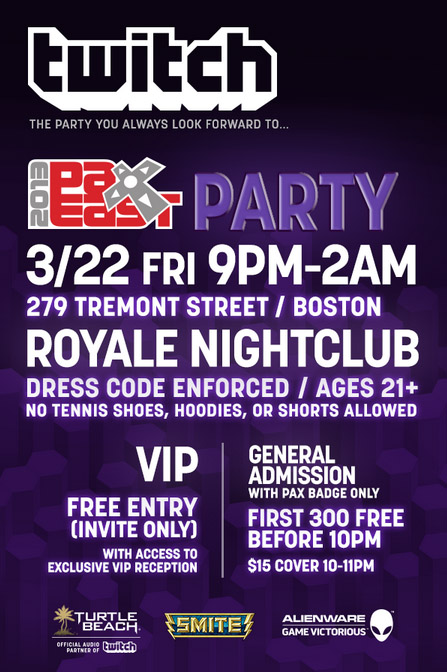 Twitch 2013 PAX East Party Friday