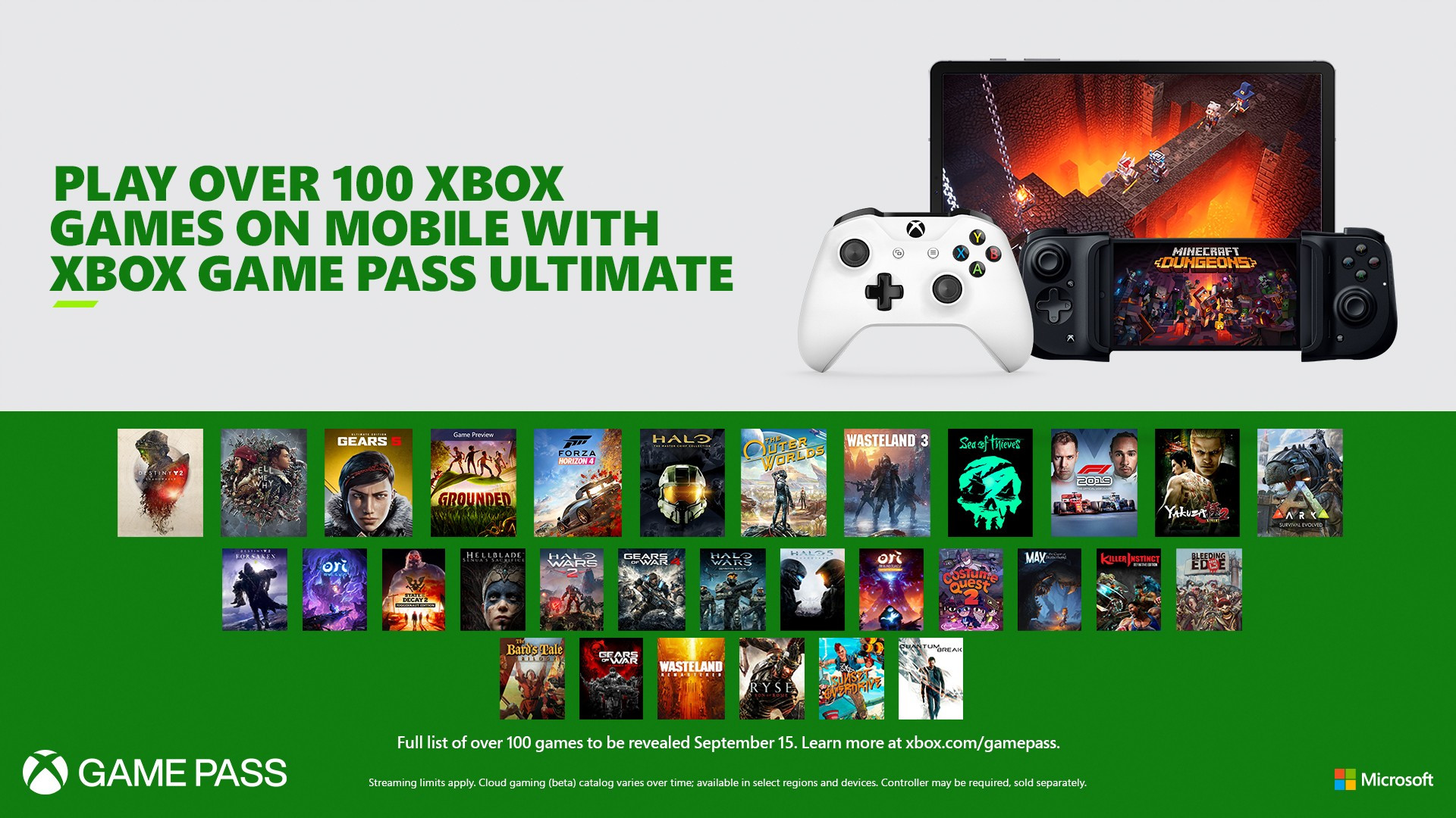 Xbox Game Pass and xCloud officially merge on September 15