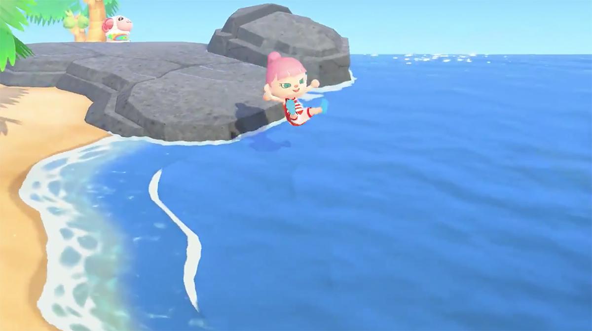 Next Animal Crossing New Horizons update reveals swimming