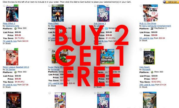 Buy 2 Get 1 Free Amazon