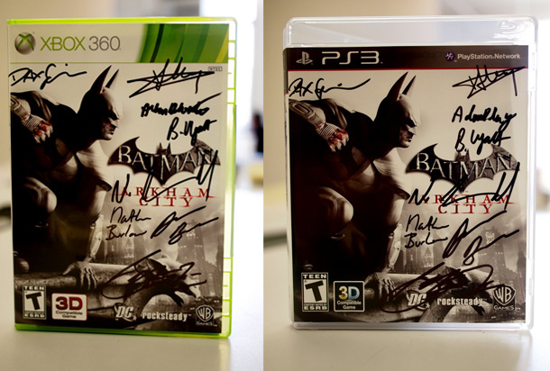 Signed Arkham City copies