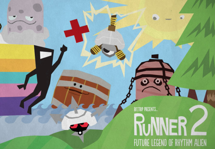 Bit.Trip Runner 2 review title screen