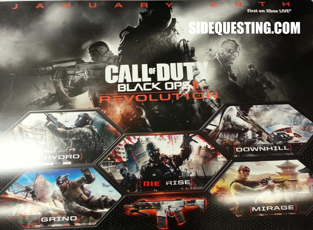 Call Of Duty Black Ops Ii Revolution Map Pack Coming January