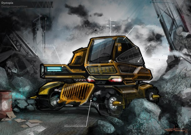 Andrey Burkhanov's Construction-based Vehicle