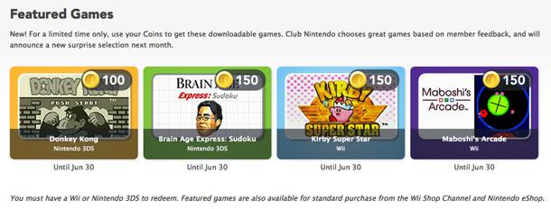 Club Nintendo June 2012 Rewards