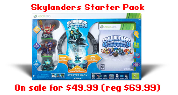 Skylanders starter pack on sale for 30% off