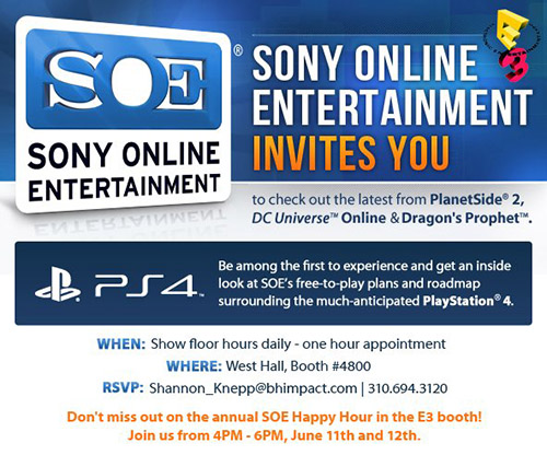 SOE E3 2013 Happy Hour