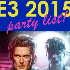 The BIG E3 2015 Party Guide is filling up!