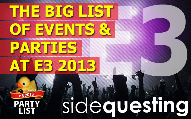 The BIG E3 2013 Party List: Parties, Events, Fundraisers and more