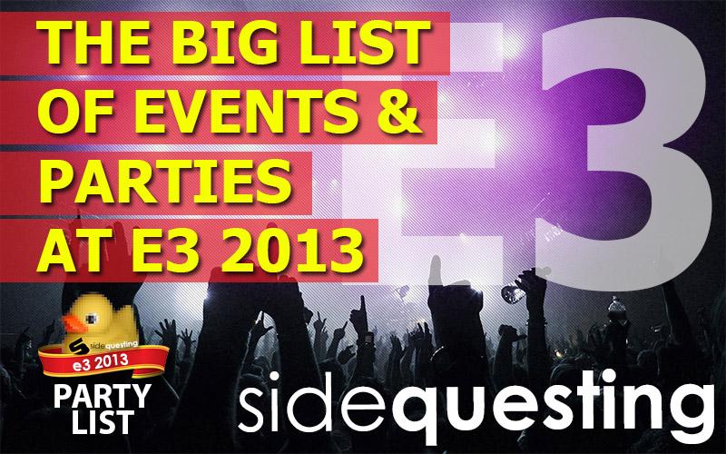 E3 Party List 2013