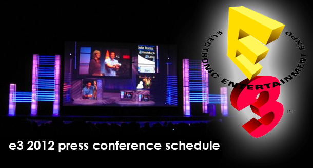 E3 Expo 2012 press conference schedule revealed