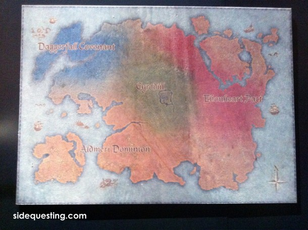 The Elder Scrolls Online map at E3