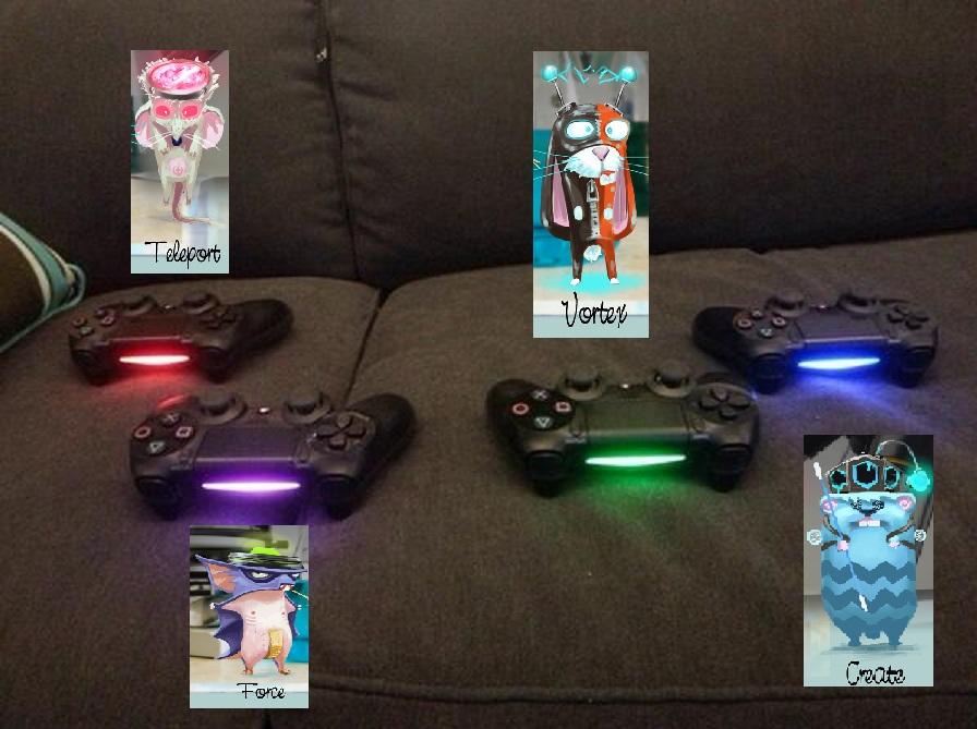 Tiny brains helps players by using the dualshock 4s light bar finished aloadofball Image collections