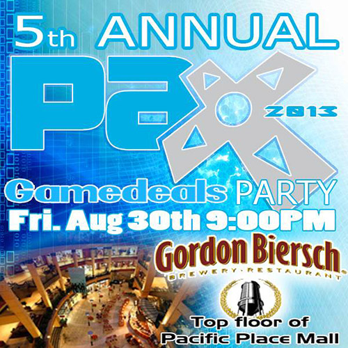 5th Annual GAMEDEALS Party at PAX