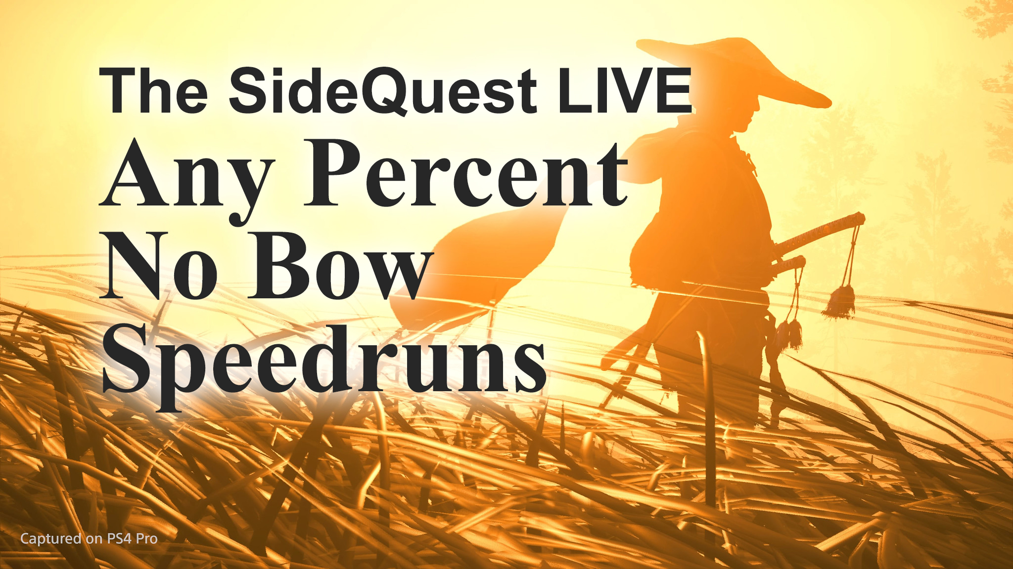 The SideQuest LIVE! July 17, 2020: Any Percent No Bow Speedruns