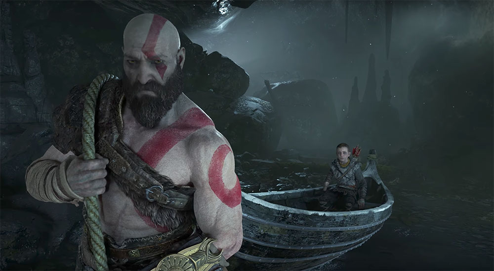 E3: Kratos teaches his son how to Be A Warrior in God of ...