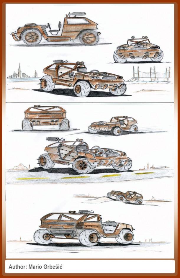 """Mario Grbešić's """"Rusty"""" based on a 1994 Subaru Justy"""