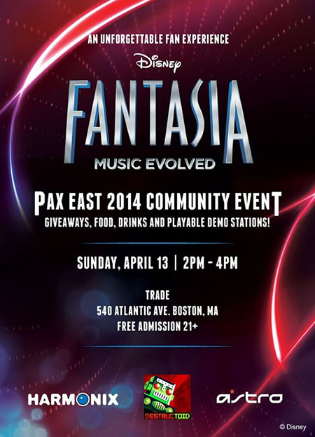 Destructoid Harmonix Fantasia PAX East Party 2014