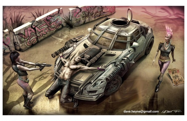 Dave Heyne's Val-E Gurls Enforcement Car