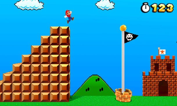Super Mario 3D Land flagpole