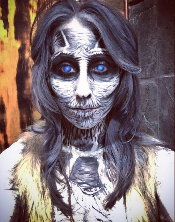Professional Halloween Makeup Dallas: Artist's Game Of Thrones-inspired White Walker Makeup Wins
