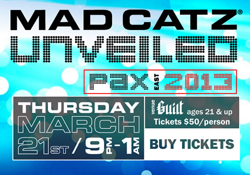 Mad Catz Unveiled PAX East 2013 party