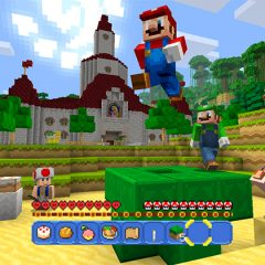 The Super Mario Bros come to Minecraft on the Wii U