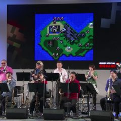 Watch Nintendo's Big Band play a live set of video game theme songs at the Switch Experience