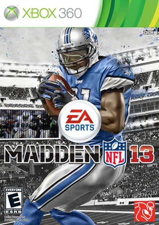 Official Madden 13 cover with Calvin Johnson