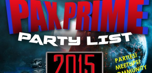 The BIG PAX Prime 2015 Party List: Parties, Events, Fundraisers and more