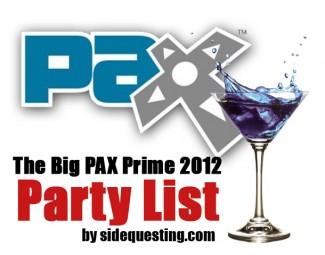 PAX Prime 2012 party list