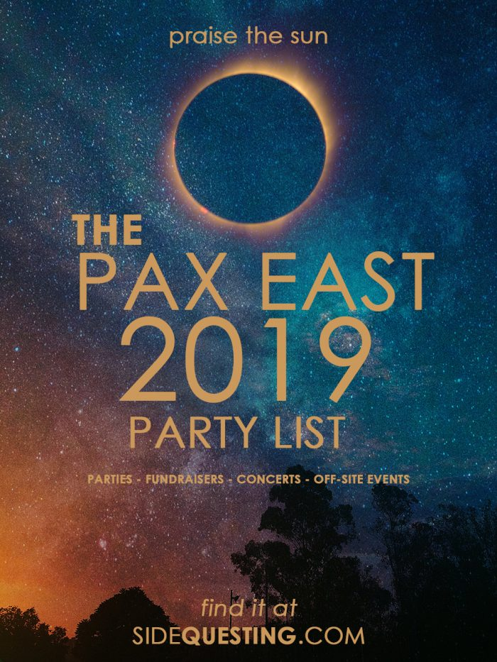 PAX East 2019 Party List Poster