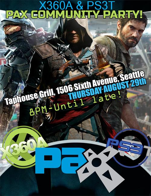 X360A PS3T PAX Prime Party 2013