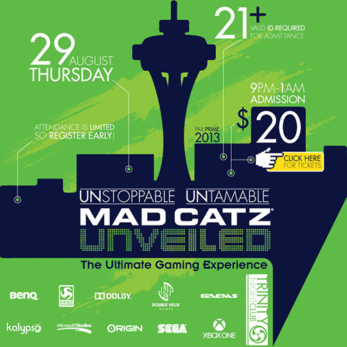 Mad Catz Unveiled PAX Prime 2013 Party