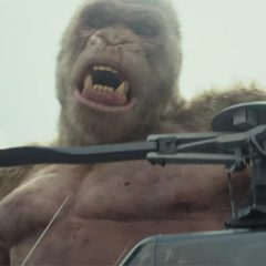 The Rock battles monsters in the first trailer for Rampage