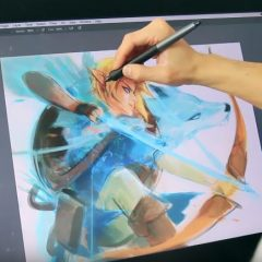 Art Tutorial: Drawing Link and Zelda with a Wacom