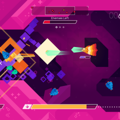 Graceful Explosion Machine preview: Neon shapes and narrow escapes