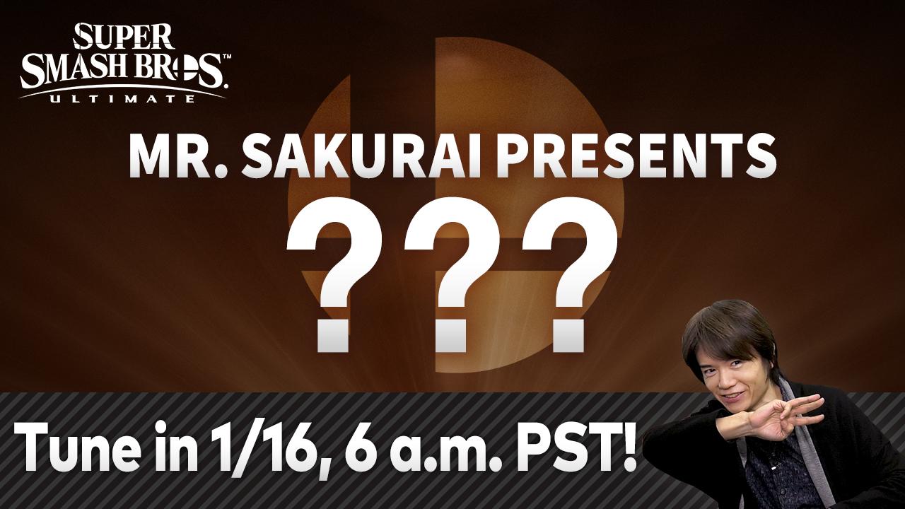 Nintendo hosting Super Smash Bros presentation on January 16