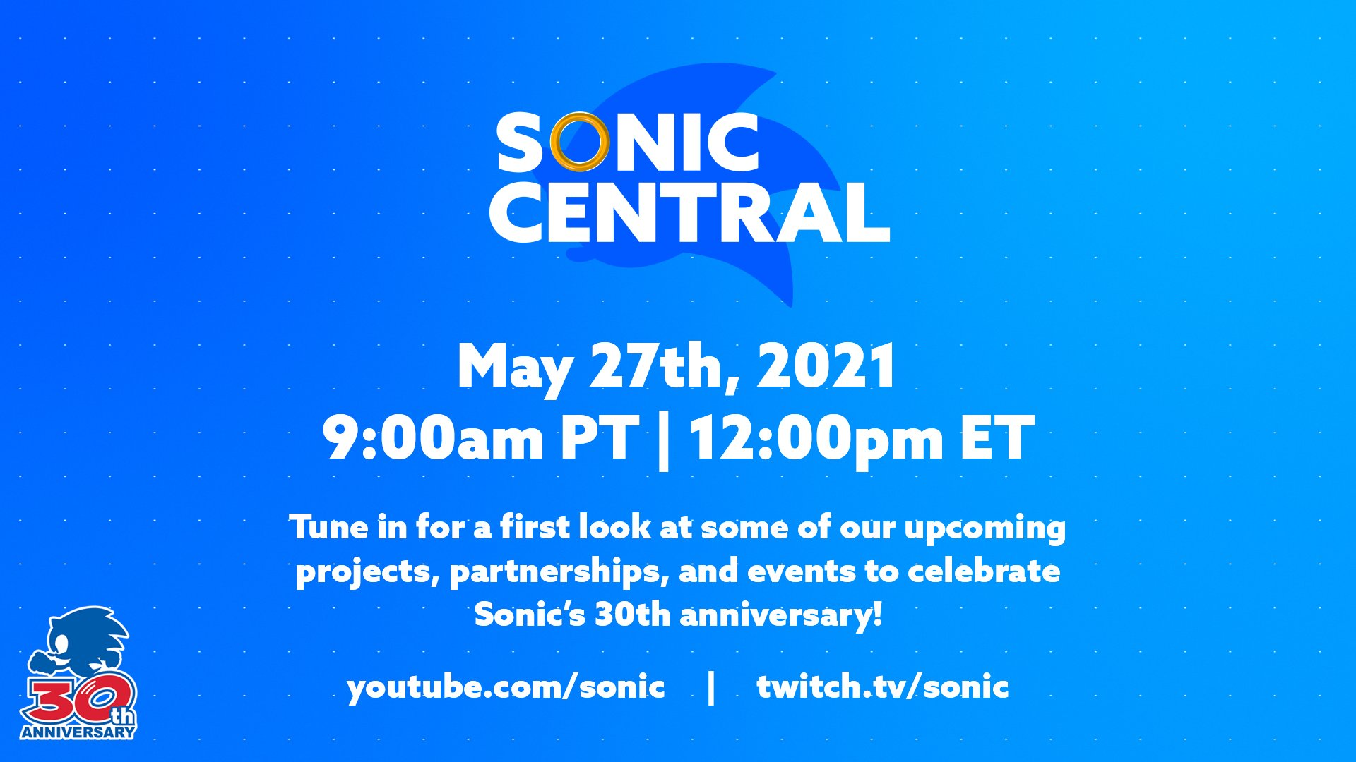 Summer event updates: Sonic's anniversary, IGN, and more