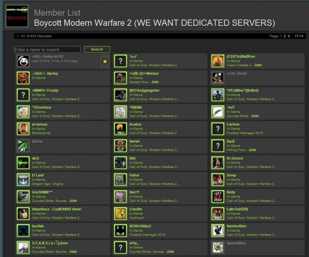 steam modern warfare 2 boycott