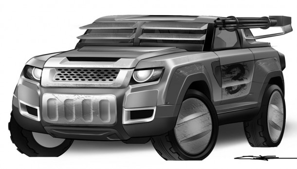 Om Suthar's Land Rover-based Death Racer