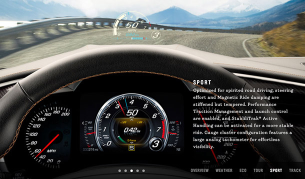 The new Corvette's Sport mode