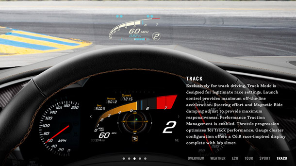 The new Corvette's Track mode