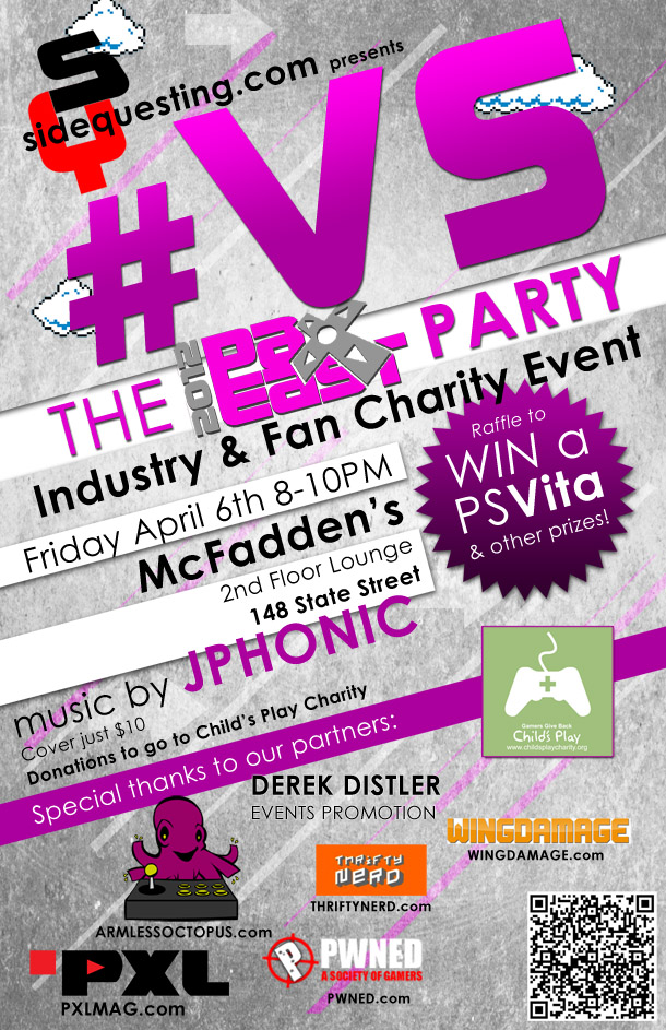 The #VS PAX East 2012 party!