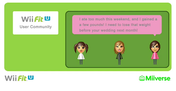 Private communities can be created for Wii Fit U